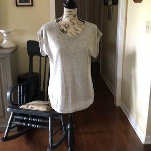 BCBGMaxAria Grey Sleeveless Knit Top
